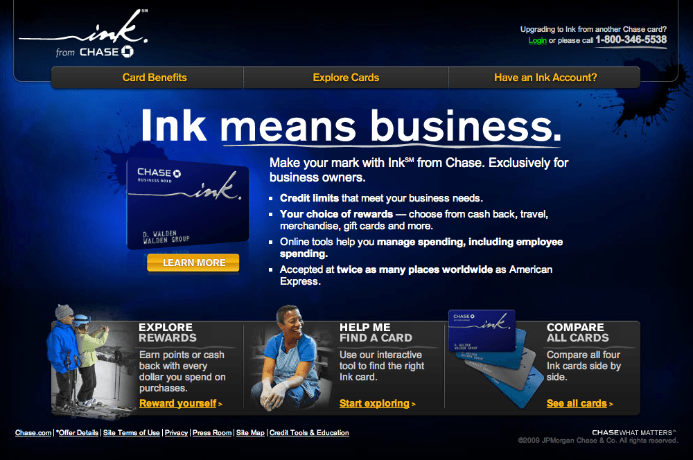 Chase introduces new ink business credit card mybanktracker some of the benefits of the ink card include reheart Gallery