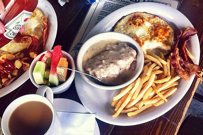Brunch time in Dallas is not taken lightly. Plus, you can get all this, for $6.50! Image via Flickr