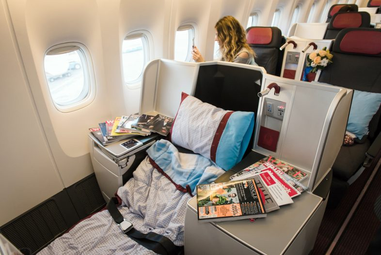First Class Using Airline Credit Cards