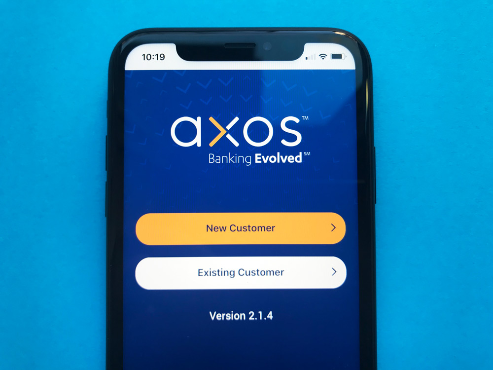 Axos Bank iPhone App