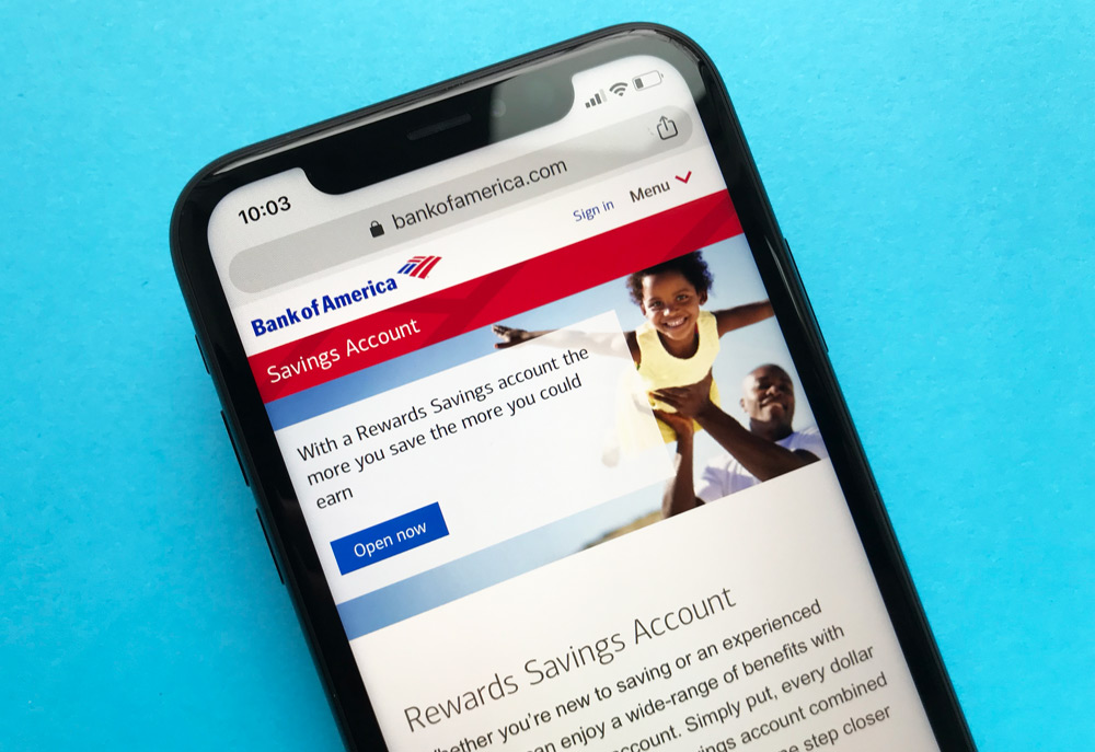 Bank of America Savings Account Website