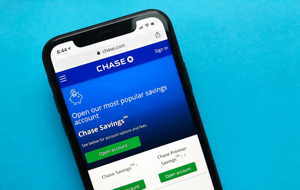 Chase Bank Savings Account Website